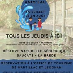 Affiche Atelier Anim'eau - Réserve Naturelle Géologique Saucats La Brède