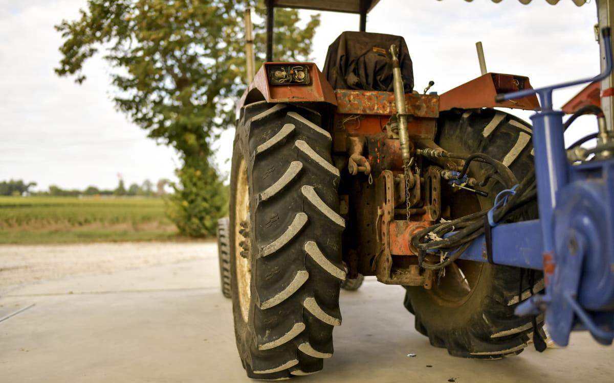 Tracteur de vendanges